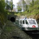 La Billebaude à la sortie de la voûte du canal de Bourgogne