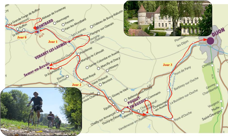 Carte Canal de Bourgogne