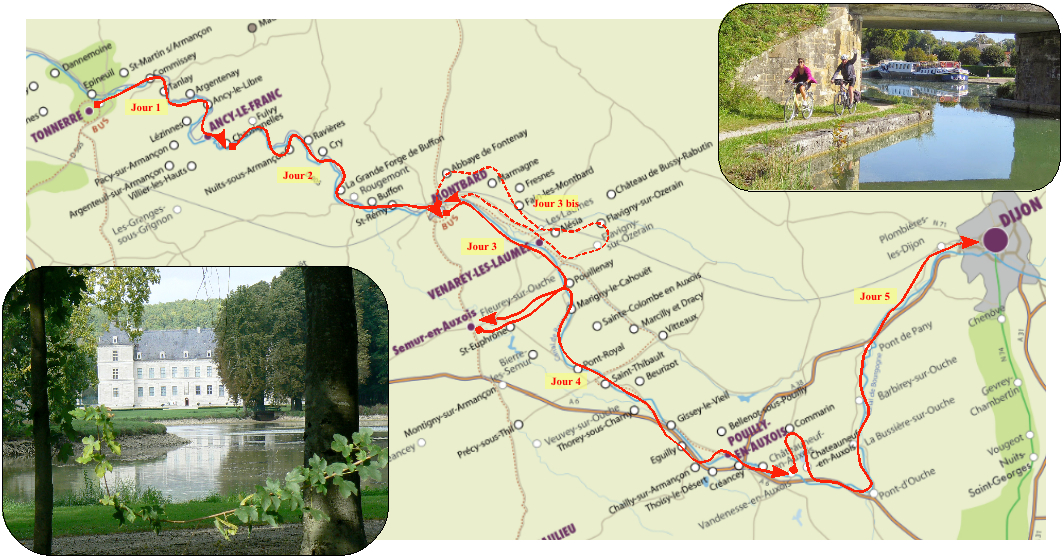 Splendeurs Du Canal De Bourgogne  U00e0 V U00e9lo  5 Ou 6 Jours De V U00e9lo