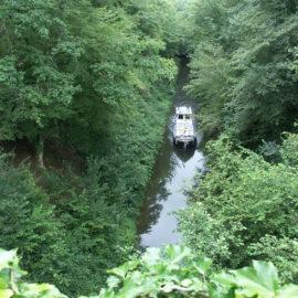 bateau tranchée colancelles canal Nivernais