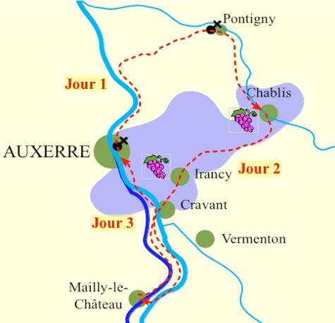 carte Tour des vignobles