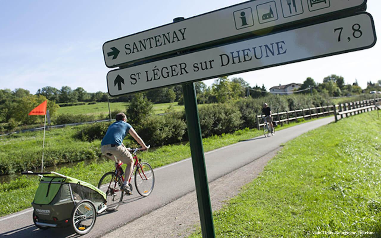 Voie verte à Santenay, Canal du centre